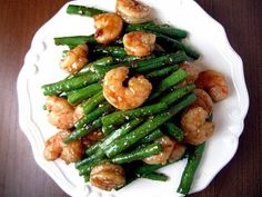 Spicy Garlic Shrimp and Green Beans