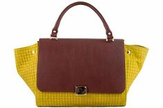 5% OFF EXTRA ON ANY HANDBAG!!  One Coupon Per Customer - Exclude Floto Handbags.  Etasico Rosealita Italian Leather Trapeze Woven Handbag Color Yellow Cognac #http://www.pinterest.com/BagMadness1/