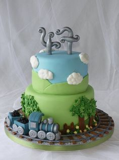 Train Cake - by CakeHeaven @ CakesDecor.com - cake decorating website