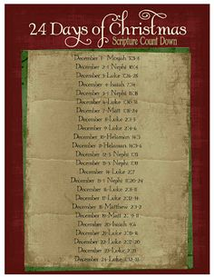Christmas LDS Scripture Advent Calendar and Printables