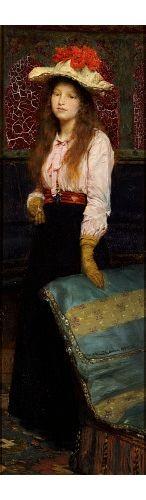 """SIR LAWRENCE ALMA-TADEMA """"Portrait Of Miss MacWirter"""", 1889"""