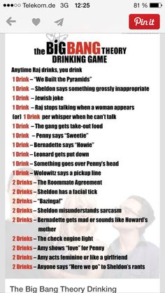 Drinking game. This is for babe. Totally!