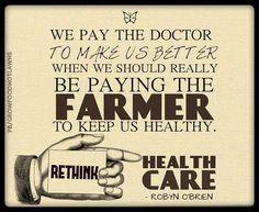 No farms, no food.