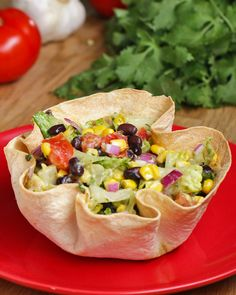 Tortilla Bowl Southwestern Salad Recipe by Tasty
