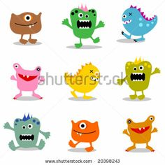 Google Image Result for http://image.shutterstock.com/display_pic_with_logo/190306/190306,1226474915,2/stock-vector-cute-little-monsters-20398243.jpg