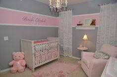 Little girls rooms ideas girl room colors baby nursery decor paint . Nursery Themes, Nursery Room, Nursery Decor, Nursery Ideas, Bedroom Themes, Room Decor, White Nursery, Baby Girl Nursery Pink And Grey, Bedroom Ideas