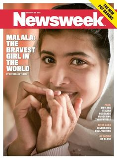 Malala on this week's cover of Newsweek.