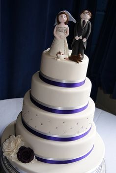 we really like these ribbons - although it would probably be a darker purple (and a different cake topper)