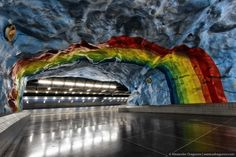 STADION METRO STATION (STOCKHOLM, SWEDEN) A must-see destination for travellers in Sweden, the Stockholm metro has been called the 'longest art gallery in the world'. Description from pinterest.com. I searched for this on bing.com/images
