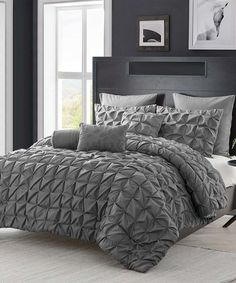 Another great find on #zulily! Charcoal Maya Six-Piece Comforter Set #zulilyfinds