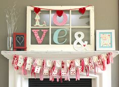 Every month or so I get together with a few of my favorite ladiesto gossip and do some sort of fun project or activity. This month my cousin, Kelley, hosted the cutest Valentine's tea party for us all, and we made a fewValentine's Day crafts including this adorable heart card banner. I started by collecting …