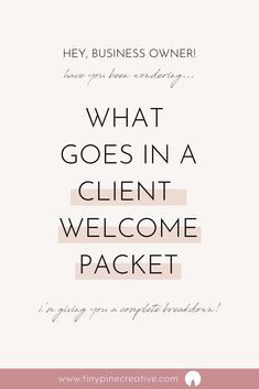 After many versions, I have finally created what I think is the perfect client welcome packet. Business Planning, Business Tips, Online Business, Business Marketing, Business Sales, Business Education, Names For Business, Marketing Ideas, Business Coaching