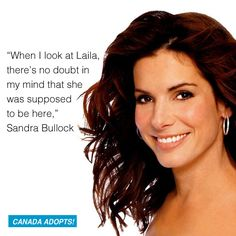 Sandra Bullock opens up about adopting her daughter, Laila.