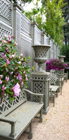 Side garden in Spring. Accents of France.