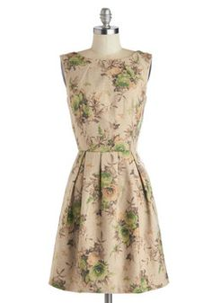 I freaking love floral prints, I swear. Week in the Pyrenees Dress, #ModCloth