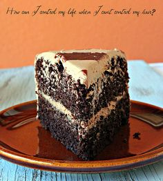 Double Chocolate Cake with Chocolate Butter Cream