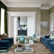 Green & Blue Living Room