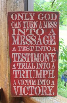 Gods Testimony Positive Message Subway Sign by tinkerscottage, $35.00