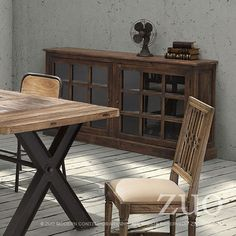 Zuo Haight Ashbury Dining Table Distressed Natural.