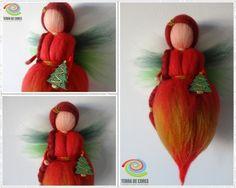 felted Christmas Fairy by TERRA DE CORES