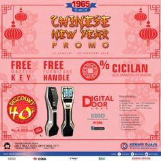 """Sahabat Kenari Djaja ... Nikmati Promo Istimewa dari Kenari Djaja """"Chinese New Year"""" Mulai dari 15 Januari - 28 Pebruari 2018.... Kunjungi Showroom Terdekat Kami Segera ...  Informasi Hub. : Ibu Tika 0812 8567 7070 ( WA / Telpon / SMS ) 0819 0506 7171 ( Telpon / SMS )  Email : digitalmarketing@kenaridjaja.co.id  [ K E N A R I D J A J A ] PELOPOR PERLENGKAPAN PINTU DAN JENDELA SEJAK TAHUN 1965"""