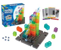 Introducing Marble Maze by Marble Genius! Marble Maze is a logic game + puzzle + marble run all in one! Steam Toys, Marble Maze, Logic Games, Stem Learning, Thing 1, 3d Puzzles, Learning Through Play, Building Toys, Board Games