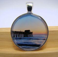Resin Pendant Photo Pendant Cocoa Beach Pier by BytheGulfCreations, $14.00