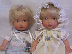Twin Ellery's. Dolls by Helen Kish - outfits by me. I really have to get these babies back out!
