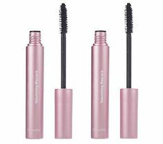 Mally waterproof volumizing mascara $28 for two on QVC.  Best mascara I've ever used.  Love this!