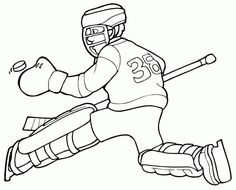 Kids printable Hockey coloring pages Sports Coloring Pages, Coloring Sheets For Kids, Printable Coloring Sheets, Bible Coloring Pages, Hockey Birthday Parties, Logo Outline, Sports Figures, Logo Color, Team Logo