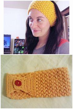 """The Bean"" Earwarmer/FREE crochet headband pattern - The Batter's Box"