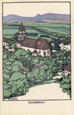 Karl Schwetz for Wiener Werkstatte -Postcard No. Art Nouveau Poster, Art Photography, Plant Painting, Pen Illustration, Poster Prints, Postcard, Design Art, Woodcut, Vintage Illustration
