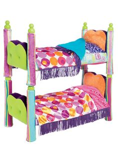 Sweet, spunky dreams in these retro doll beds - Groovy Girls Groovy Style Bombastic Bunk Bed
