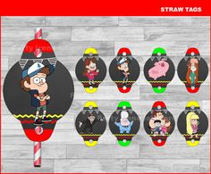 Gravity Falls Straw Tags Instant download, Gravity Falls Chalkboard toppers, Gravity Falls party Straw Tags by partyirenelatimore on Etsy https://www.etsy.com/listing/475022564/gravity-falls-straw-tags-instant
