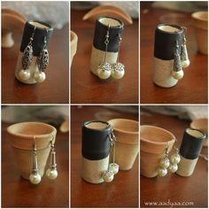 Dainty danglers in pearls ... Pack of 6 ! -www.cooliyo.com