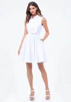 40bd663a41 Poplin Flared Shirtdress. Dress OutfitsDay ...