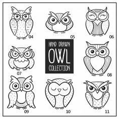Owl Doodle, Doodle Art, Owl Background, Buho Tattoo, Owl Sketch, Owl Vector, Vector Hand, Funny Owls, Owl Logo