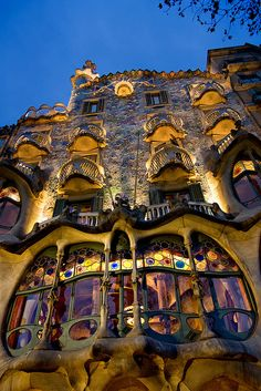 Casa Batllo in Barcelona, Spain Places To Travel, Places To See, Antonio Gaudi, Aragon, Future Travel, Amazing Architecture, Art Nouveau, Beautiful Places, Spain