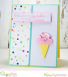 SPDMIX8 SugarPea Designs Gift Certificates, Clear Stamps, Pastel Colors, Sprinkles, Cardmaking, Challenges, Paper Crafts, Crafty, Creative