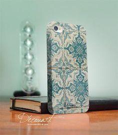 Floral iPhone 4 case iPhone 4s case tile pattern S152 by Decouart