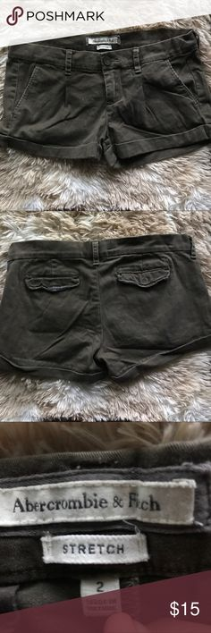 Brown Abercrombie shorts Brown shorts from Abercrombie and Fitch size 2 stretch good condition Abercrombie & Fitch Shorts