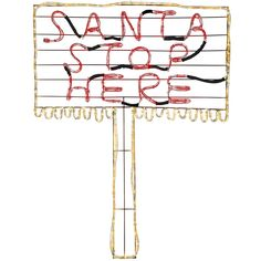 WeRChristmas Santa Stop Here Sign LED Rope Light Silhouette, 112 cm - Large, Multi-Colour >>> Want additional info? Click on the image. #GardenDecor