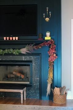 Fireplace & fall decorating ideas