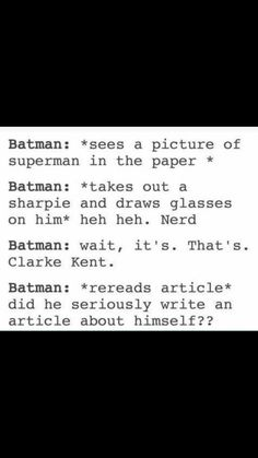 headcanon accepted. for some reason, this is how I imagine lego batman learning superman's identity