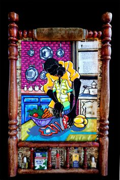 """Preparing"" mixed media collage by Leroy Campbell"