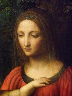 (detail) • madonna and child with saint elizabeth and the infant saint john, early 16th c. • bernardino luini