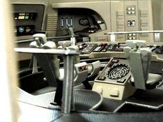 "USS Enterprise ""Wrath of Khan"" era bridge. Star Trek Toys, Star Trek 1, Star Trek Ships, Star Trek Models, Sci Fi Models, Star Trek Bridge, Go Boldly, Star Trek Merchandise, Star Trek Starships"