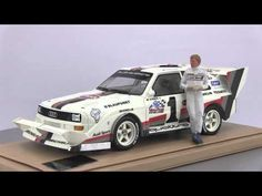 CK-Modelcars - CK001 + AE180113: W. Röhrl Audi quattro S1 #1 Winner Pikes Peak 1987 Set mit Figur 1:18 TopMarques