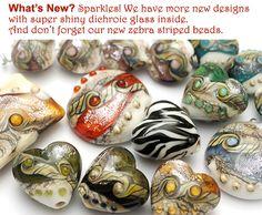 Grace Lampwork Beads, High Quality Handmade Glass Beads. Wholesale Lampwork Beads.
