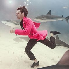 Beneath the surface of our underwater menswear shoot in shark-infested waters